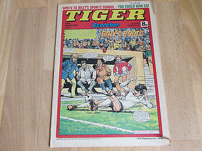 TIGER & Scorcher Comic Peter COLLINS Crystal Palace FOOTBALL Team Pic. 18/02/78