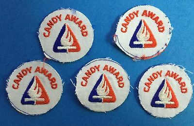 5 Lot Vintage Campfire Girls Candy Award Badge Patch Crest