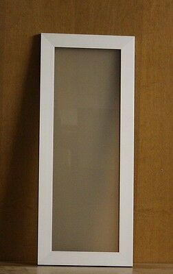 """Kraftmaid Kitchen  Brushed Aluminum Glass Door For 12""""x39"""" Wall Cabinet"""