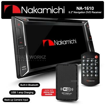 "NAKAMICHI NA1610 7"" HD Screen Double DIN Car DVD Player Stereo GPS + Mirror Link"