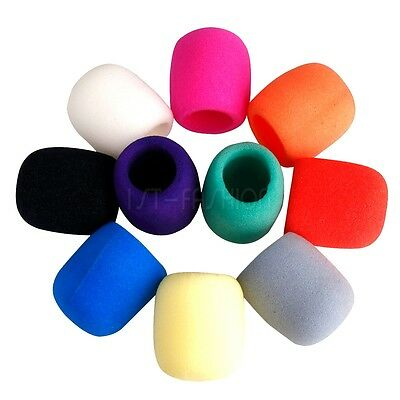 5pcs Handheld Stage Microphone Windscreen Foam Mic Sponge Cover Karaoke DJ