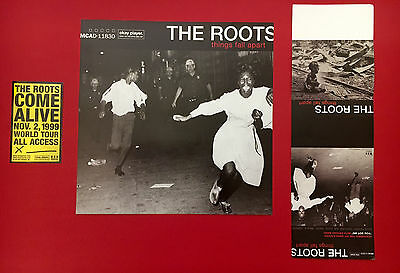 "The Roots ""things Fall Apart"" Poster Flat, Table Display & Sticker Promo Pack!"