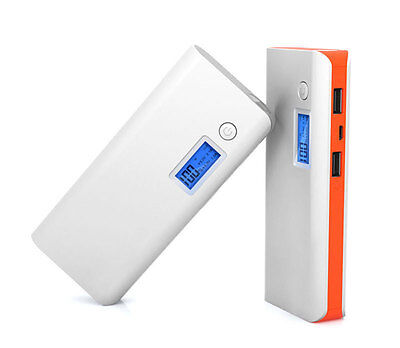 50000mAh Portable External Power Bank 2USB Backup Battery Charger For Cell Phone