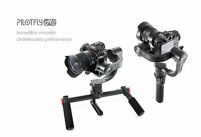 New PILOTFLY H2 + Dual Handle (2 Hand) Holder 3-axis Stabilising Gimbal Encoders