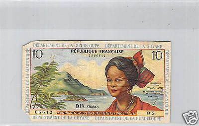 ANTILLES FRANCAISES 10 FRANCS ND (1964) O.2 N° 3806612 PICK 8a