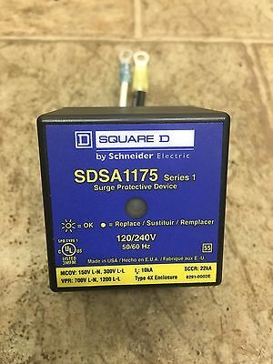 Used Schneider / Square D SDSA1175 Surge Protector / Protection Device 120/240V