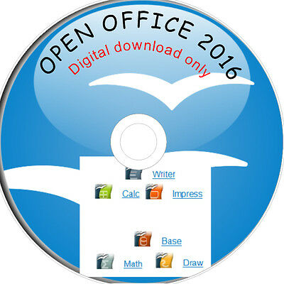 OPEN OFFICE 2016 for MS home and student 365 DIGITAL DOWNLOAD ONLY