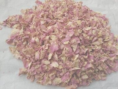 Biodegradable Dried Rose Petals Pastel Pink in 5x7cm Organza Bags