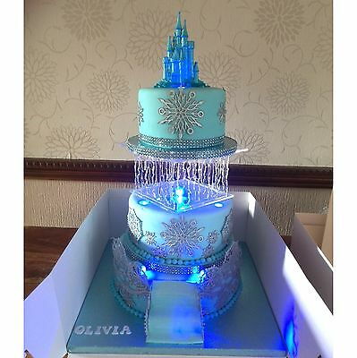 Icicle Pillar, Acrylic Clear Square Cake Seperator, Free UK P&P