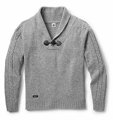Mens Grey Lambs Wool Mix Pullover Jumper – Genuine Vw Golf Collection