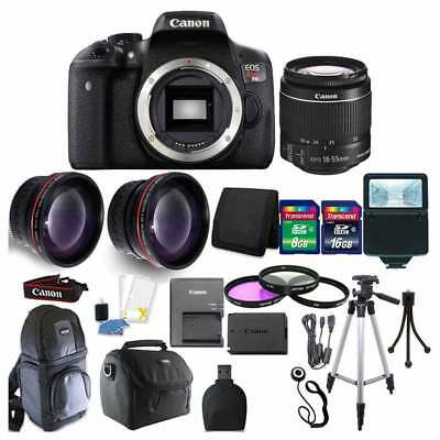 Canon EOS Rebel T6 DSLR Camera + EF-S 18-55mm IS II Lens 24Gb Accessory Bundle