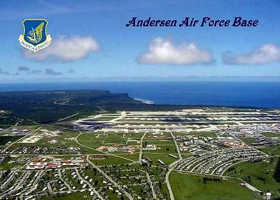 Guam Andersen Air Force Base Aerial View New Postcard