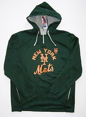 detailed look 21ed0 eef17 Majestic New York Mets Special Edition Green Therma Base Hoodie Pullover  Jacket