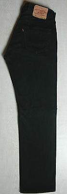 Vintage Made In Uk Levis 501 Jeans Red Tab Straight Leg Black High W30 L31