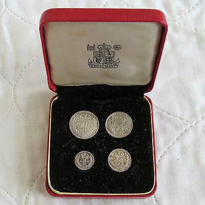 1961 QEII SILVER 4 COIN BOXED MAUNDY SET - mintage 1188 - 56th birthday