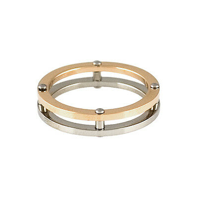 Lot of 15 Rings Stainless Steel with Copper Accent -  ER0005
