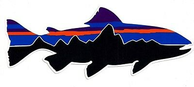 Patagonia Trout Sticker Decal  **Retro**