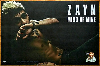 ZAYN Mind Of Mine 2016 Ltd Ed RARE New Poster +FREE Pop Rock Dance Poster!