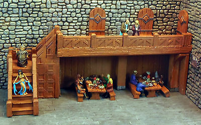 Painted Stair and Balcony Set 2 - Works with Dwarven Forge and DnD D&D