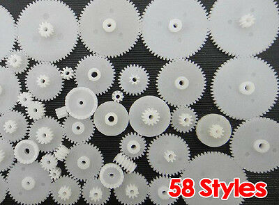 10X(58 styles Plastic Gears Cog Wheels All The Module 0.5 Robot Parts DIY  HY