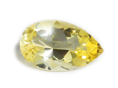 15.83 Ct Certified Loose Natural Pear Cut Yellow Feldspar Gemstone Ceylon-11609