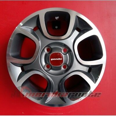 "F856/ap Kit 4 Cerchi In Lega Da 15"" 6J 4X98 58.1 Specifico X Fiat Panda (169)"