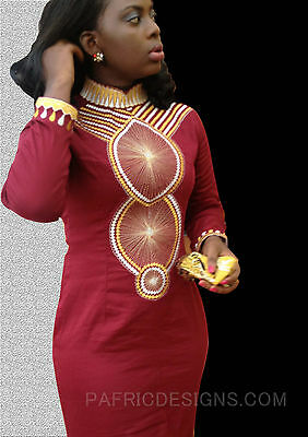 New Pafric Designs Women Embroidery On Polish Cotton Long Dress Round Neck Comes