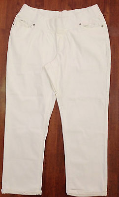 Pumpkin Patch – Summer Cruise White Denim Maternity Jeans - BNWT– Size 16 / XL