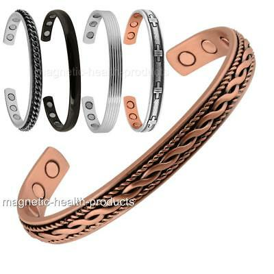 Mens Ladies Copper Bangle Magnetic Bracelet Arthritis Pain Relief