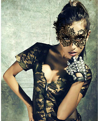 Lady Sexy Black Lace Eye Mask Masquerade Ball Costume Party Fancy Dress Carnival