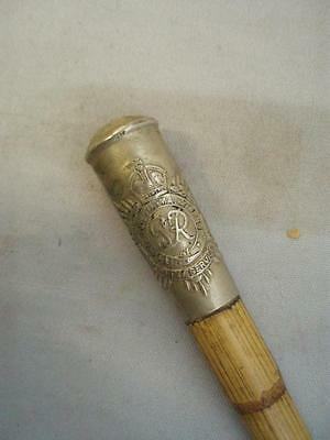 The Royal Army Services Corps Bamboo SWAGGER STICK.