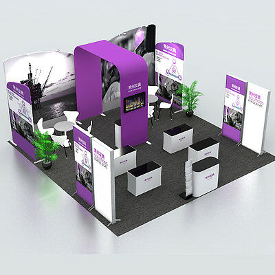 20ft×20ft protable trade show display booth exhibition system + custom graphic