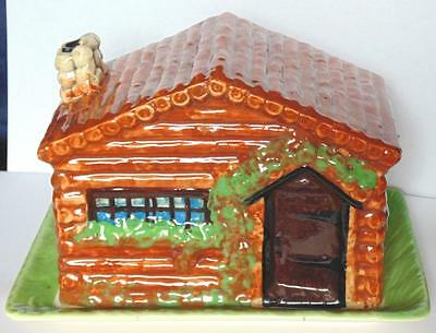 Vintage Beswick Log Cabin Cheese Dish Model Number 252