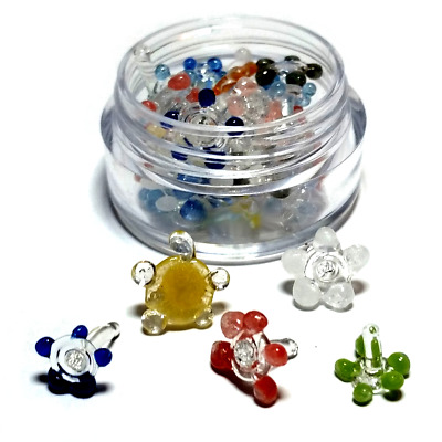 Glass Pipe Screens (Daisy Style) Quality Smoke Screen- 100+ pc w/ Mini Container