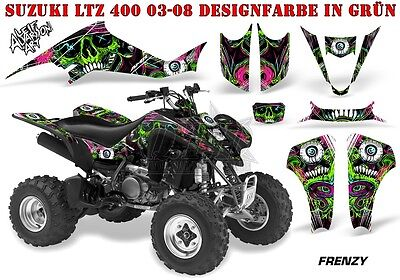 Amr Racing Dekor Graphic Kit Atv Suzuki Ltz & Kawasaki Kfx Frenzy B