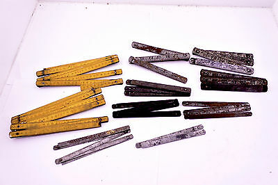 Large lot of Zig Zag Rules. Steel-Aluminium and Timber