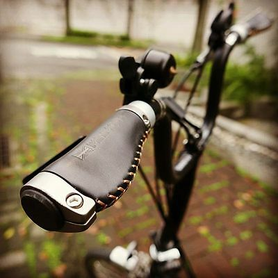 Brompton M bar Short version Ergonomic Leather Grips (MiniMODs)