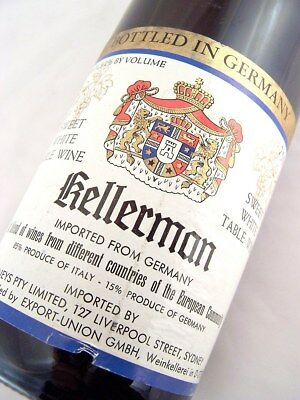 1977 circa KELLERMAN Sweet White Blend Isle of Wine