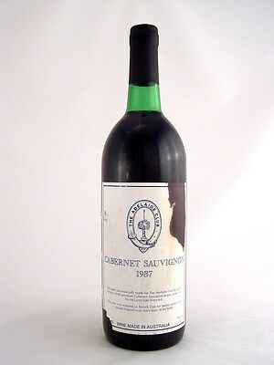 1987 GENDERS McLAREN VALE The Adelaide Club Cabernet B Isle of Wine