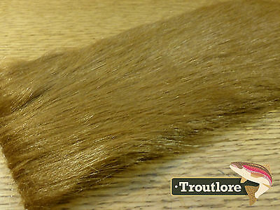 Saddle Brown Craft Fur Long Pile Hair Material  - New Fly Tying Materials