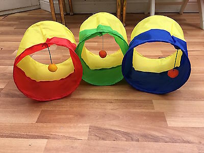 Pet Activity Play Tunnel for small Animals-Red/Yellow, Blue/Yellow-Green/Yellow