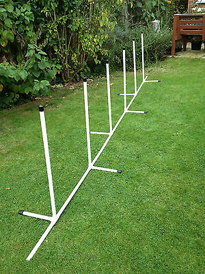 Dog Agility JESSEJUMP 12 Pole Deluxe Weave Set
