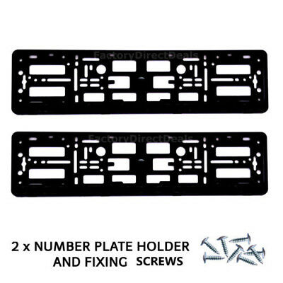 2x Number Plate Surrounds Holder Frame FOR TUNING AUTOHAUS AUDI VW +Free Fixing