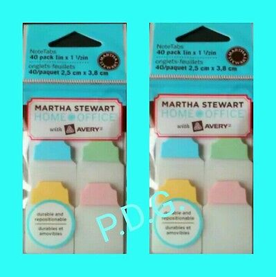 10 packs Martha Stewart Notetabs Note Tabs Flags  *AVERY Discontinued