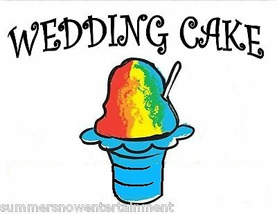 WEDDING CAKE SYRUP MIX Snow CONE/SHAVED ICE Flavor GALLON CONCENTRATE #1