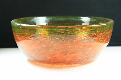 Vintage Scottish Large Vasart Art Glass Bowl