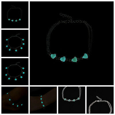 Glow In The Dark Chain Anklet Ankle Bracelet Barefoot Sandal Beach Jewelry HGUK