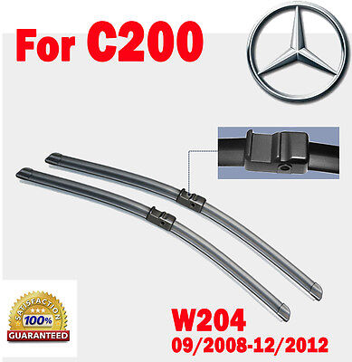 Pair Frameless Windscreen Wiper Blades For Mercedes Benz C200  W204 2008 - 2012