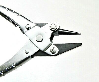 Parallel Action Pliers Round & Flat Nose Smooth Jaws 140mm Jewelry Wire Working
