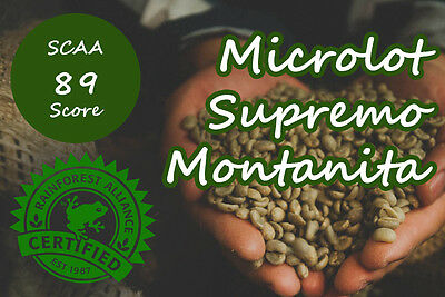 Raw Colombia Montanita Microlots Supremo - 3KG  Arabica Green Coffee Beans